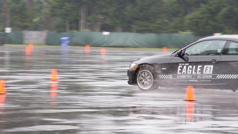 The art of testing tires in the rain