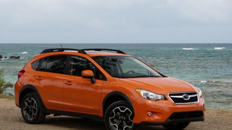Subaru?s on the right offroad with new Crosstrek