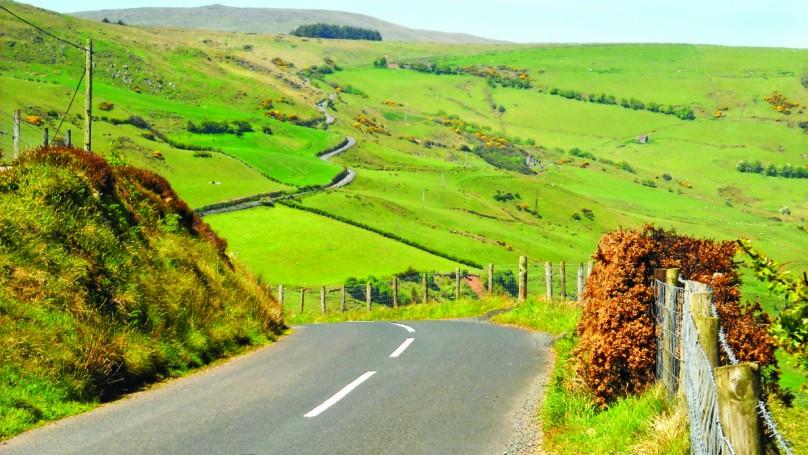 Driving in Ireland is a joy
