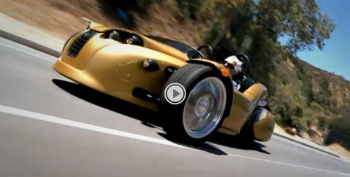Jay Leno drives Canadian built Campagna V13R