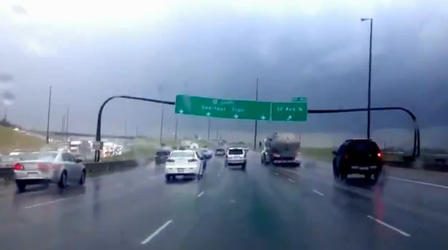 Insider Report: Calgary road sign does a dance before crashing down