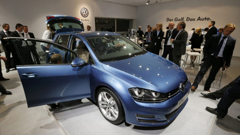 VW launches lighter, more fuel-efficient Golf