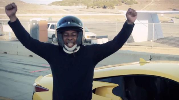 Lucky winner drives Lexus LFA at Laguna Seca