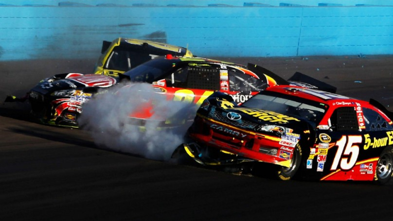NASCAR brawl erupts after Gordon slams Bowyer