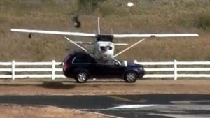 Insider Report: Watch an airplane hit a Volvo