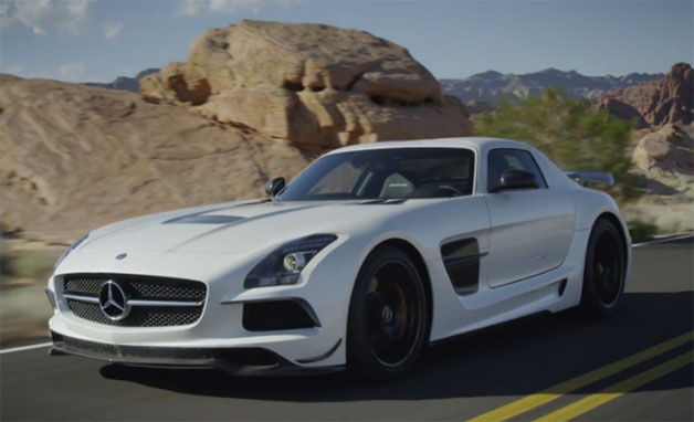 Watch trailer for Mercedes SLS AMG Black Series