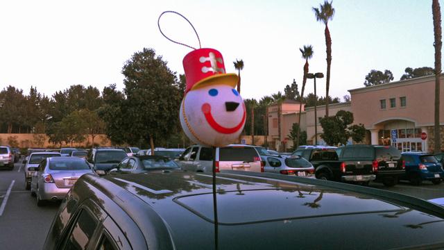 Tacky Christmas decor for cars