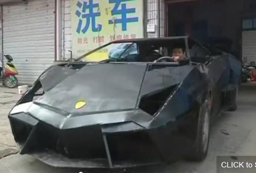 28-year-old Chinese farmer builds his own Lambo
