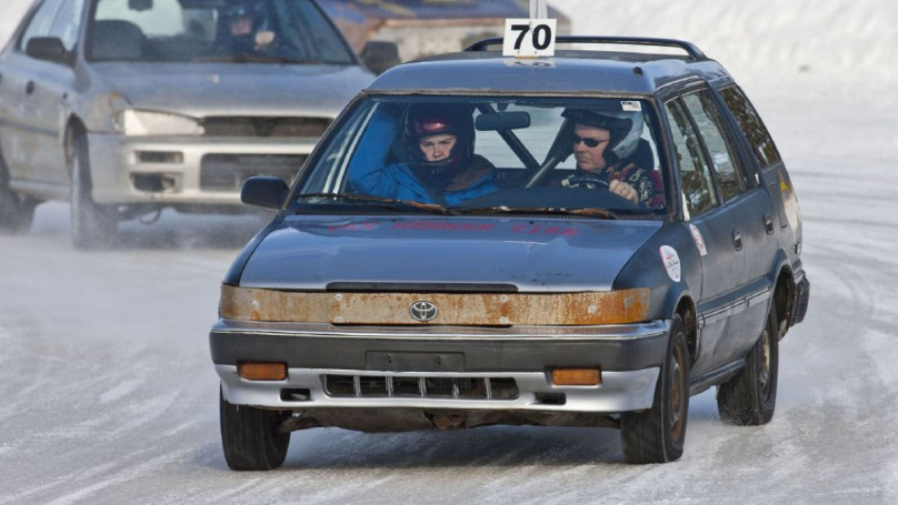 Old 1991 Corolla finds life after death on the ice