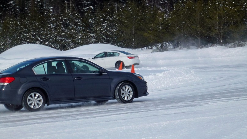 Tire testing Subaru, Camry and Accord