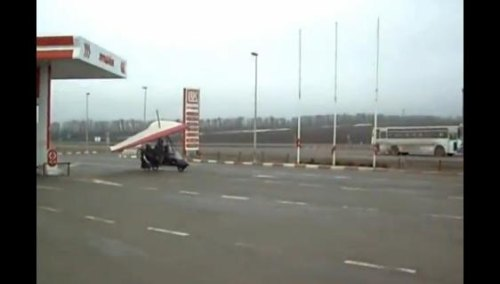 Insider Report: Pilot lands for quick fill-up at gas station