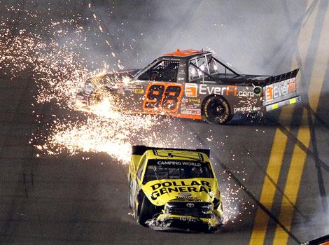 NASCAR trucks: Sauter wins down low