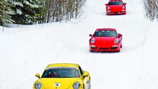 Learning to drift in a Porsche in the Quebec snow