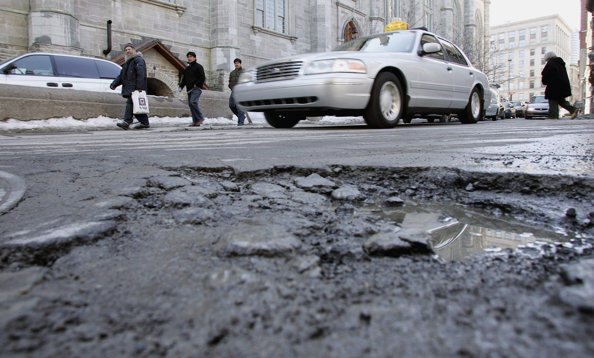 Safer Spring Driving - avoid potholes