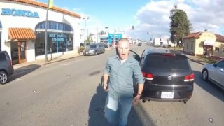 Insider Report: Watch VW driver <br>mime plea for anger management