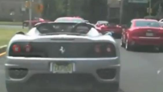 Police officer runs with the supercars, loses his badge