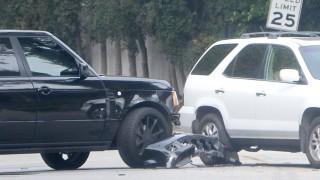 David Beckham, son involved in second car crash