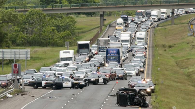 Are risky moves allowed when avoiding a crash scene?