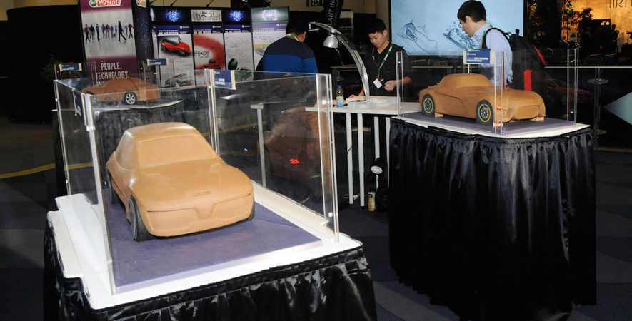 2015 Canadian International Auto Show: Art and the Automobile display
