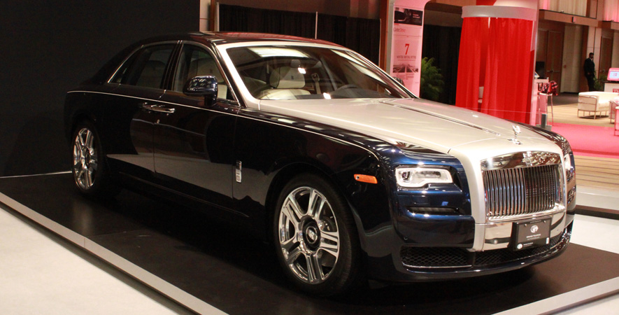 Rolls Royce Ghost Series 2 at the Canadian International Auto Show