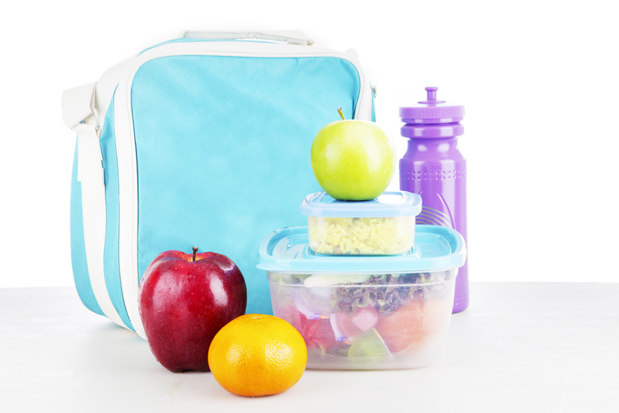 Lunch box with snacks
