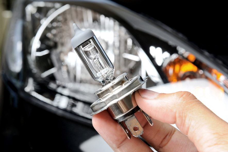 Headlight Lightbulb Up Close