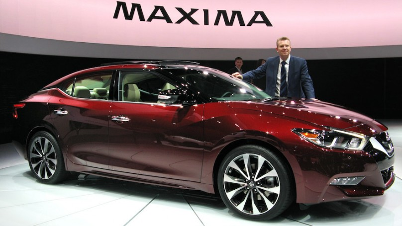2016 Nissan Maxima unveiled in New York along with 2016 Infiniti QX50