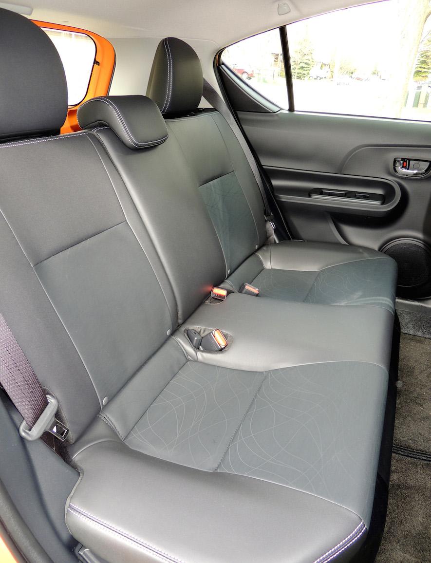 Toyota Prius C 2015 rear seats