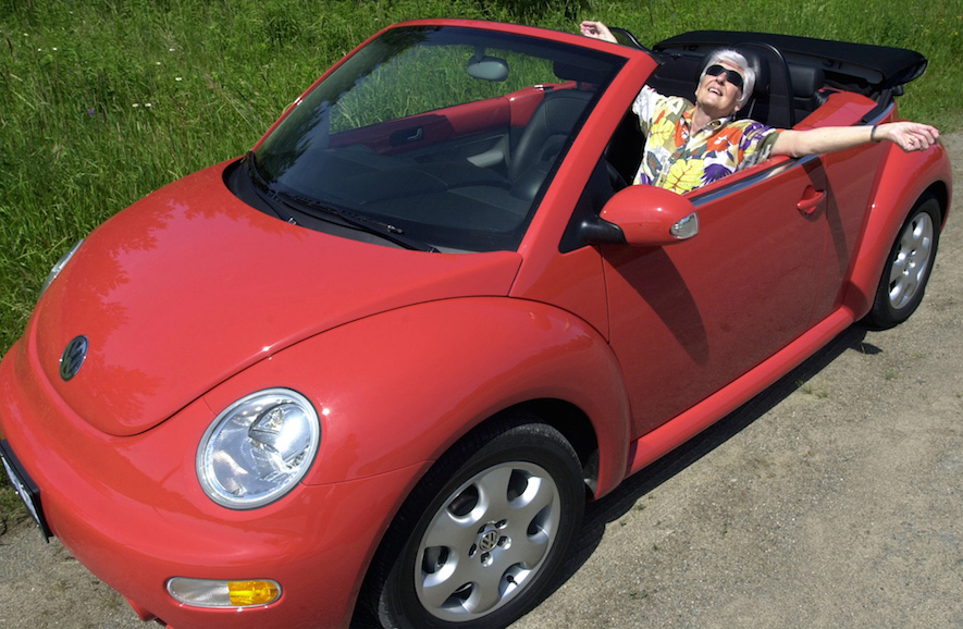 Red VW Beetle