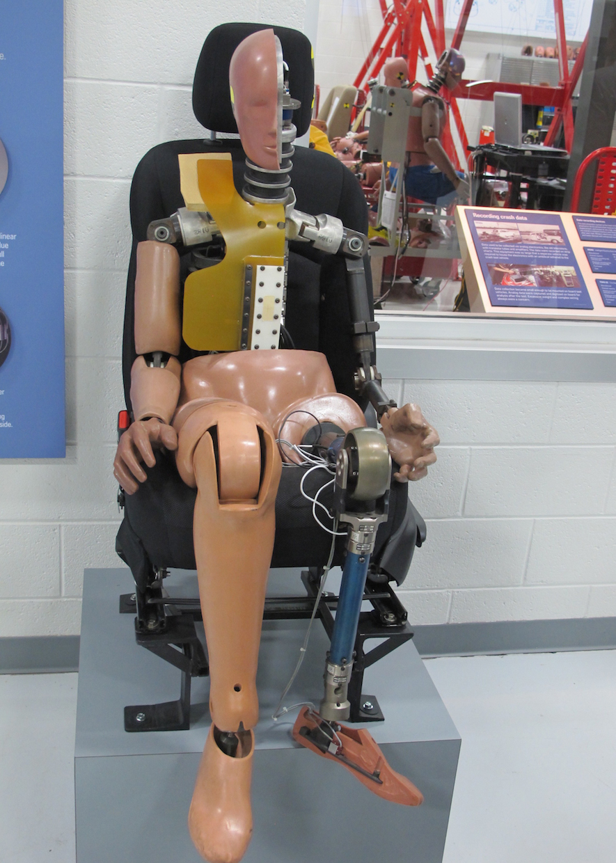 crash test dummy at IIHS