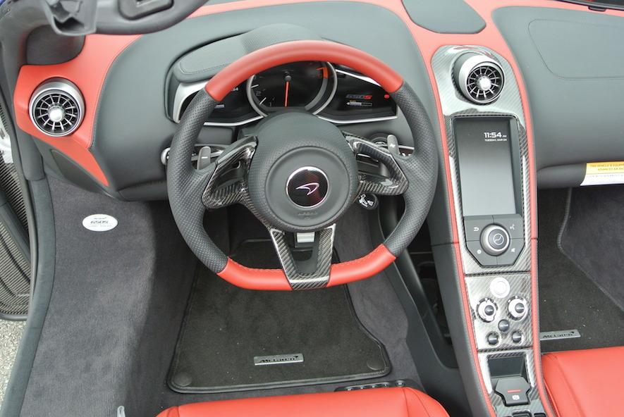 2015 McLaren 650S Steering Wheel And Front Interior