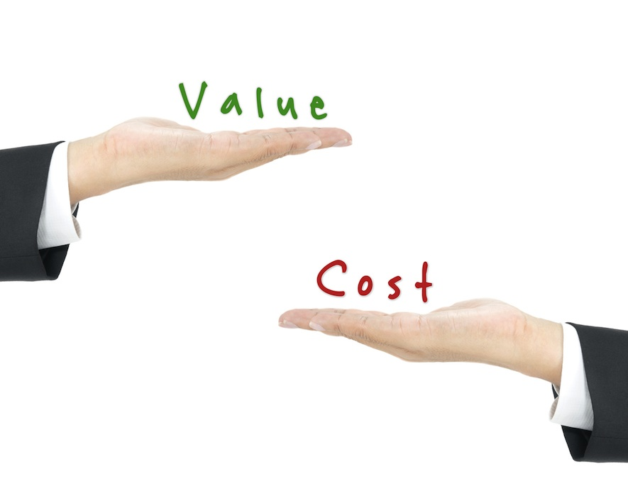 Value vs. Cost infographic