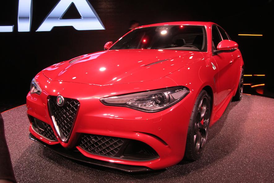 Alfa Romeo Giulia close up front view