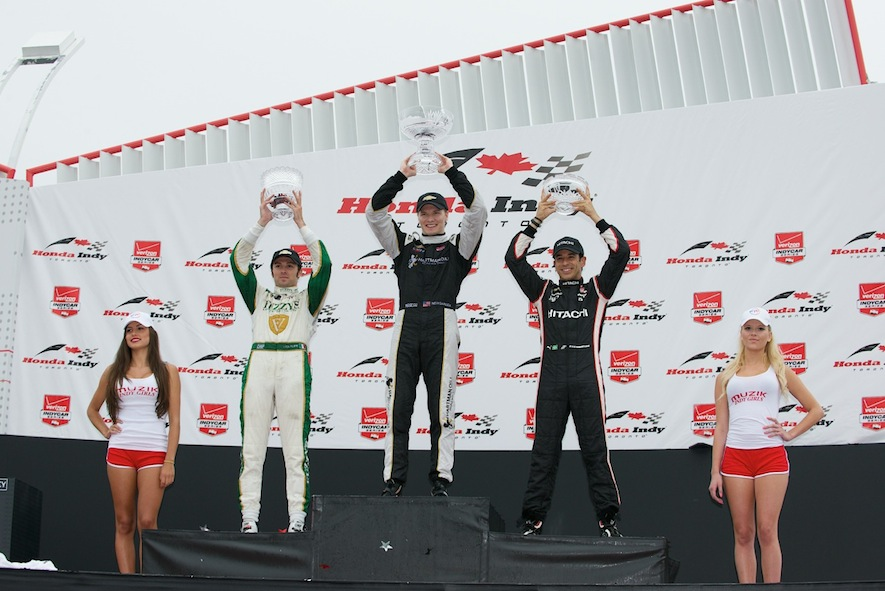 Honda Indy Toronto Winners on the podium