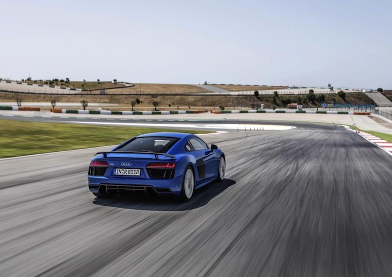 Blue Audi R8 Rear