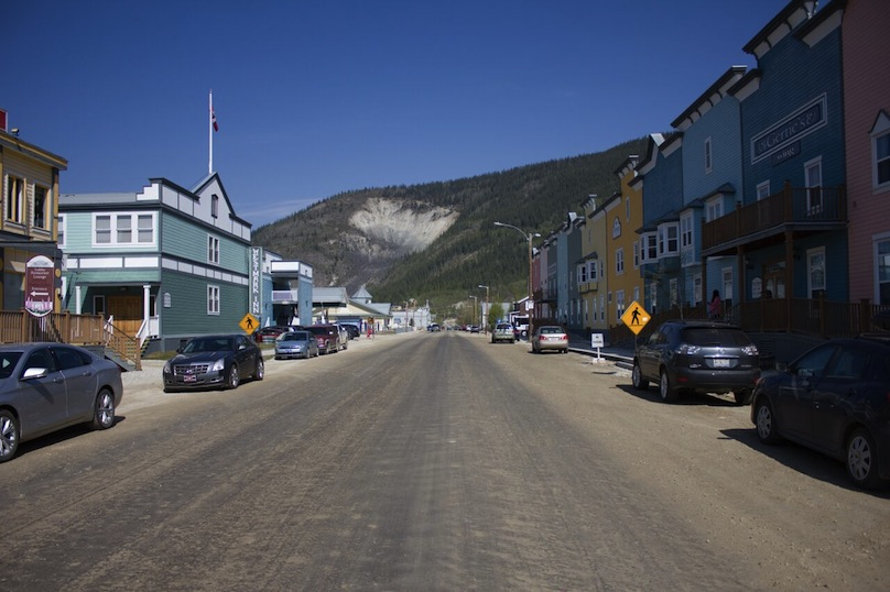 Dawson City on the yukon road trip