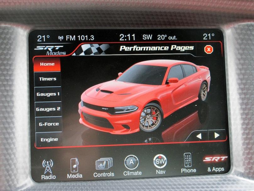 2015 Dodge Charger SRT Hellcat touchscreen