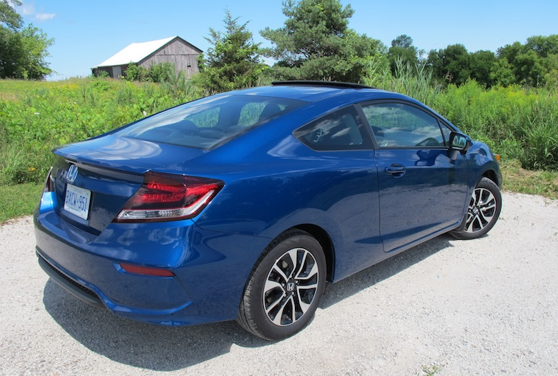 2015 honda civic coupe rear