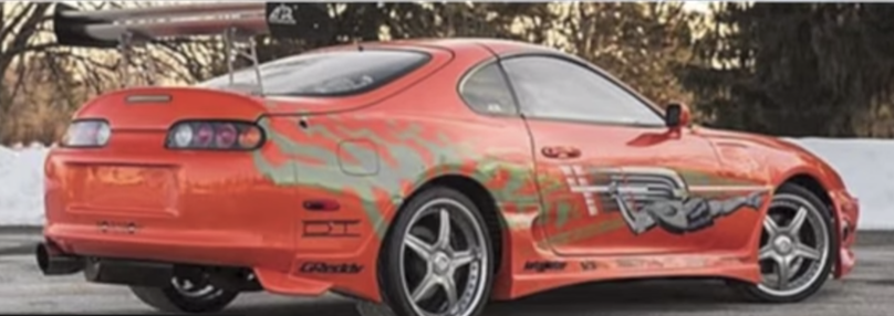 Toyota Supra MkIV featured in fast and furious