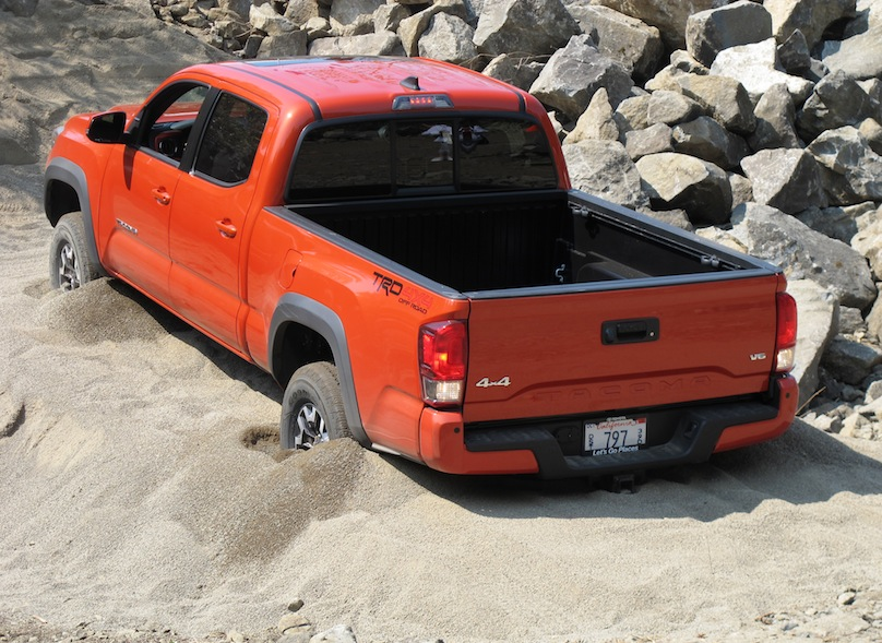 2016 Toyota Tacoma rear in sand