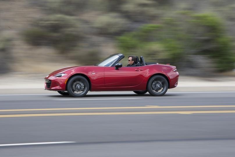 Mazda MX-5 on the road