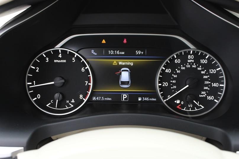 2016 Nissan Murano gauges