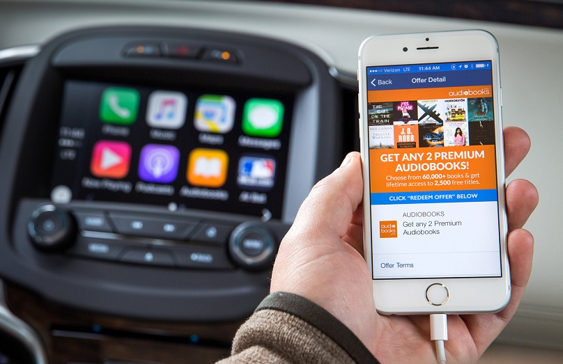 Through Apple CarPlay and OnStar AtYourService, Buick offers a s
