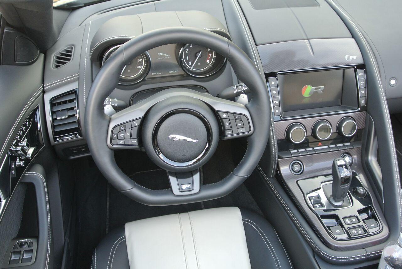 2016 Jaguar F-Type interior