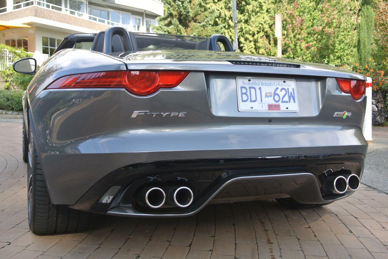 2016 Jaguar F-Type rear