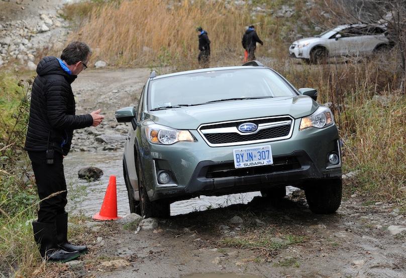 2016 Subaru Crosstrek in river