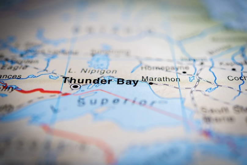 Thunder Bay on the map