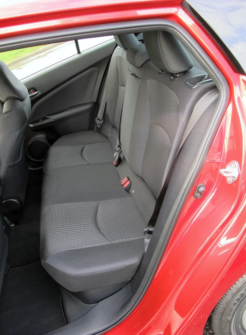 Prius back seat