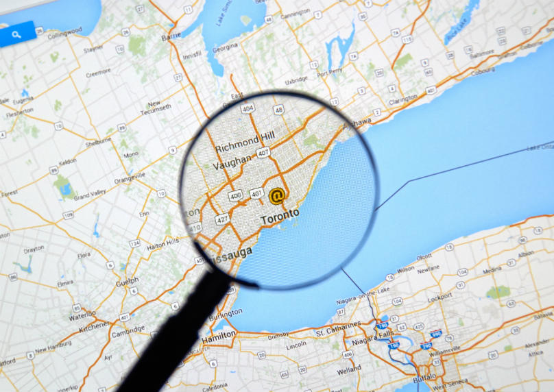 Map Toronto