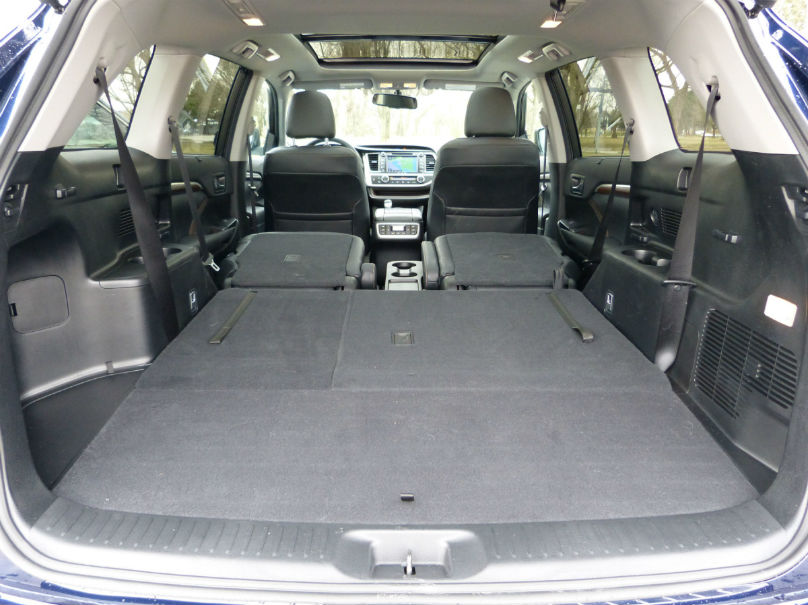In The Rear Cargo Area, The Highlander Finishes A Distant Second To The  Pilot In Outright Capacity.